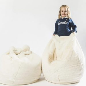 pouf ours blanc polaire wild and soft my little cocoon brest