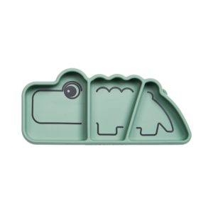 assiette silicone crocodile done by deer vaisselle bebe manger chambre my little cocoon brest
