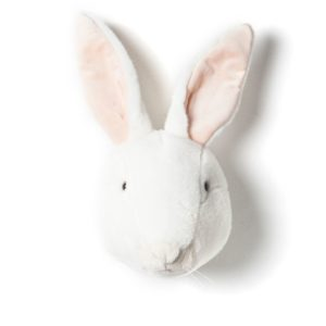 trophee tete animal lapin blanc wild and soft decoration chambre bebe enfant my little cocoon brest