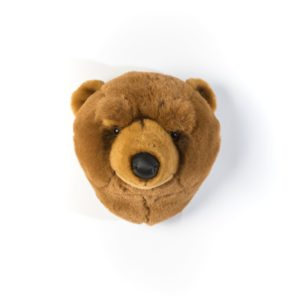 trophee tete animal ours brun wild and soft decoration chambre bebe enfant my little cocoon brest