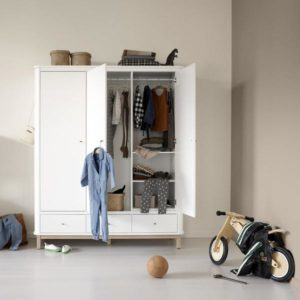 armoire 3 portes wood oliver furniture mobilier meuble meuble my little cocoon Brest