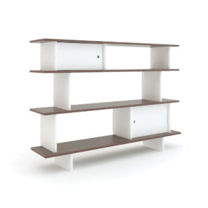 bibliotheque basse noyer oeuf nyc enfant rangement chambre mobilier brest